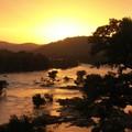Coucher de Soleil dans la jungle de Bheemeshwari