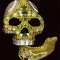 Detached Jaw Skull, SARKISIAN Amy, 2004, Beads, sequins & mixed media