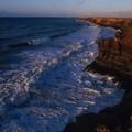 غروب الشمس على شواطئ مدينة طرفاية