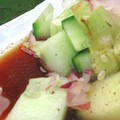 Casual cucumber salad with Soy sauce and five spices dressing