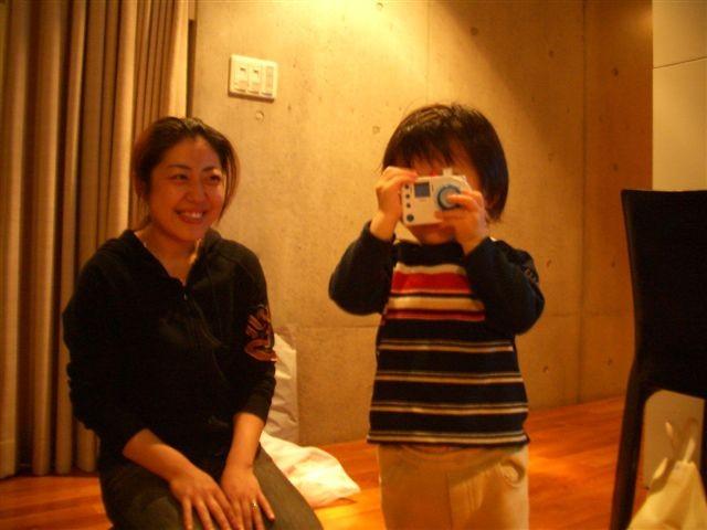 Prise de photo en miroir avec Reina
