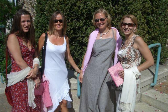 Melanie, Yolaine, Emmanuelle et moi
