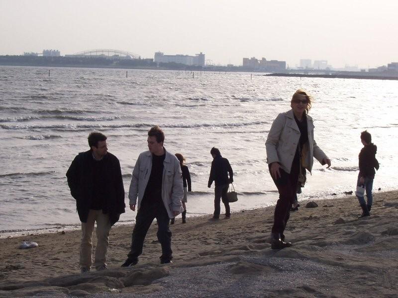 1er Avril 2006 Hanami la mer de Tokyo (Kasai)