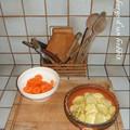 Friture de carotte et pomme de terre1/3 : encore crues