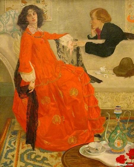 Maxwell Armfield - Peinture Portrait 1904