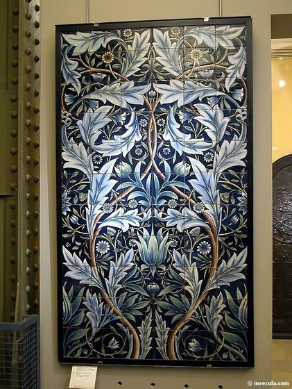 William Frend De Morgan, William Morris - Panneau Mural 1876-1877