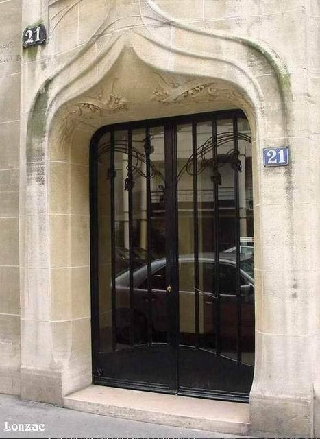 Guimard - 21 rue La Fontaine - Entrée mmeuble