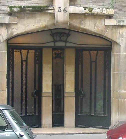 Guimard - 36, rue Greuze - Entrée