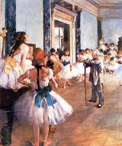 Edgar-Degas - Dancing Class