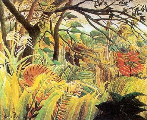 Henri-Rousseau - Surprised Storm In A Forest