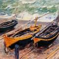 Claude-Monet - Tre-barche-de-pesca - 1885