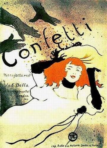 Toulouse-Lautrec Confetti - I