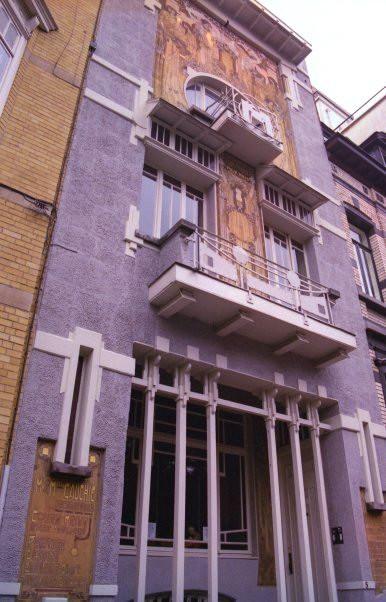 Paul Cauchie - Bruxelles la maison de Cauchie 1905