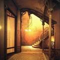 Victor horta - Hôtel Tassel à Bruxelles -1892 Intérieur & escalier
