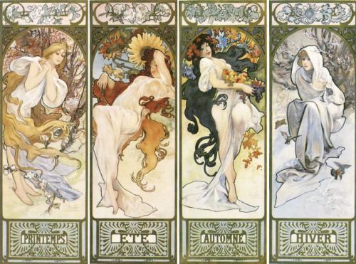 Alphonse Mucha - Les quatre saisons