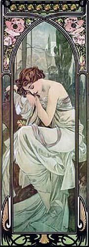 Alphonse Mucha - La nuit