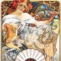 Alphonse Mucha - Biscuits Lefevre-Utile 1896