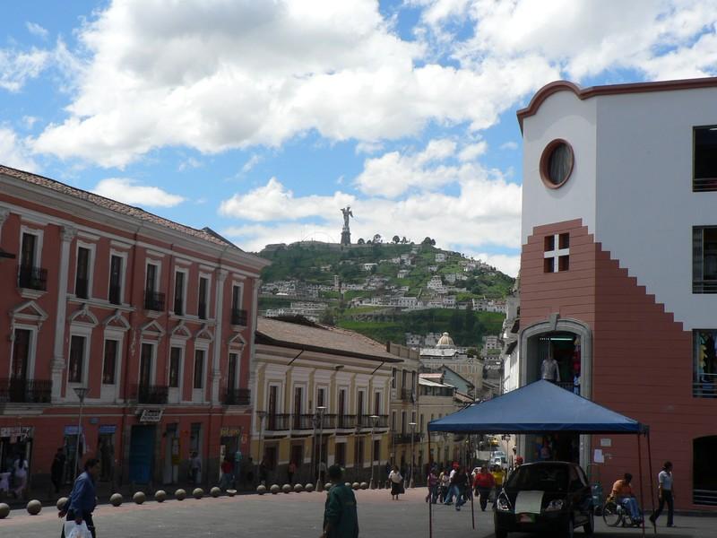 La vue, du centre de Quito