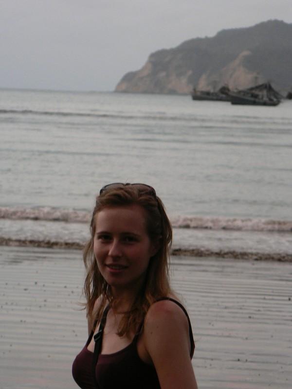 Nathalie a la plage