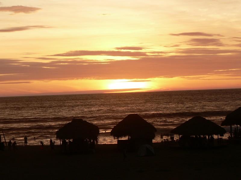 coucher de soleil depuis l'hotel