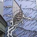 Fresque Cori dans une rue de Bruxelles (détail)