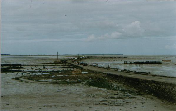 Le passage du Gois, à marée basse (vers Noirmoutier)