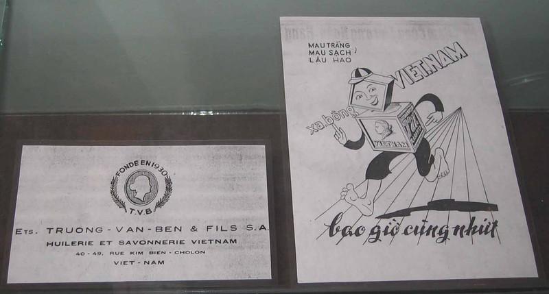 En-tête et publicité au Musée de la Ville de Ho Chi Minh-Ville
