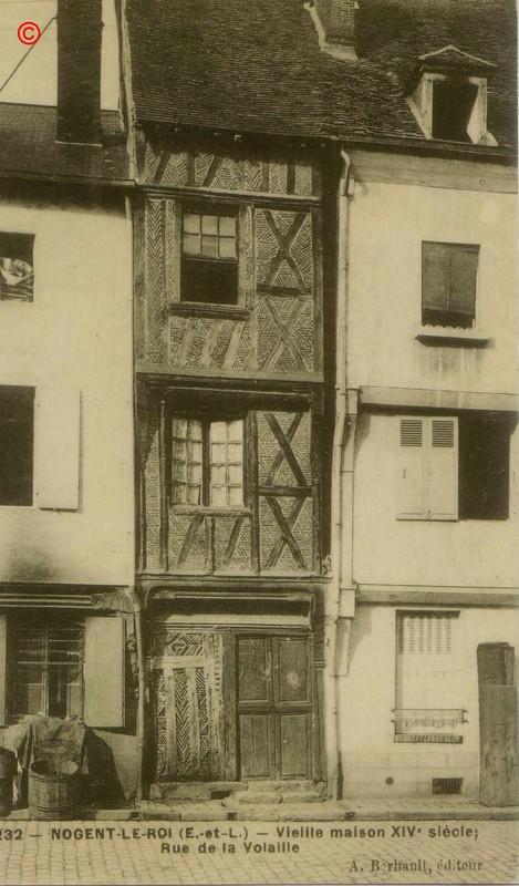 Maisons à pans de bois.