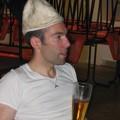 Arnaud et une bonne bière direct d'Allemagne (une bonne habitude des Funk)