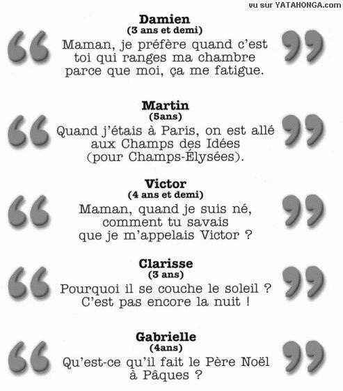 paroles d enfant 1