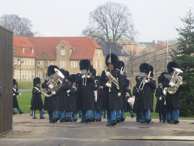 Le défilé de la garde royale