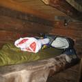 Les lits de notre hutte