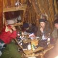 Coin salon dans la hutte