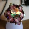 cabochon fleur de cristal