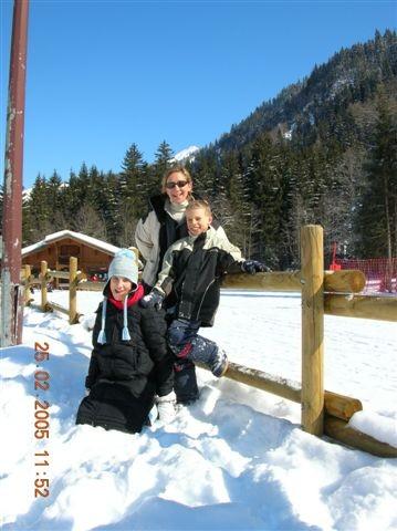 Les trois à la neige