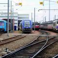 Rare à Bordeaux, RRR bleue+ X73 500 Limousin+ BB 9300+ la BB 728