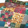Super plaid en patchwork - à la manière de Kaffe Fassett cadeau de ma mère