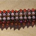 Paso doble 1bis ; rose opal, dorado , padparadsha