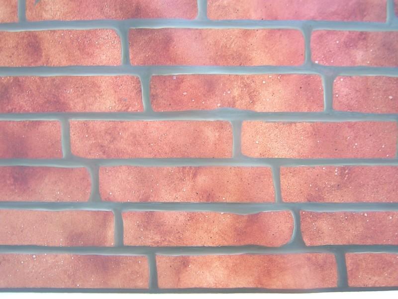 Le mur de briques photo de 4 peinture murale elode domi - Peindre un mur en brique ...