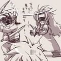 Lloyd et Zélos contre Kratos