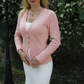Apricot jacket,modle Rebecca en Rowan All Seasons cotton