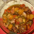 Rouelle de porc aux légumes
