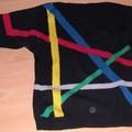 pull pour homme a motifs géométriques (100Idéees, laine La Droguerie)