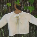 Gilet blanc 6 mois manches raglan