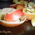 Composition pelures de pomme, bis.Envies d'un Jour