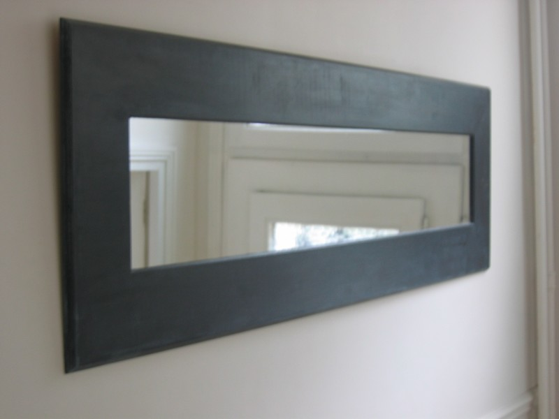 Miroir ik a peint en bronze et patin photo de d co for Grand miroir ikea