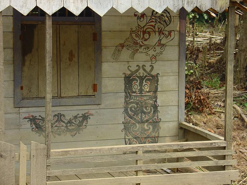 A Dayak house