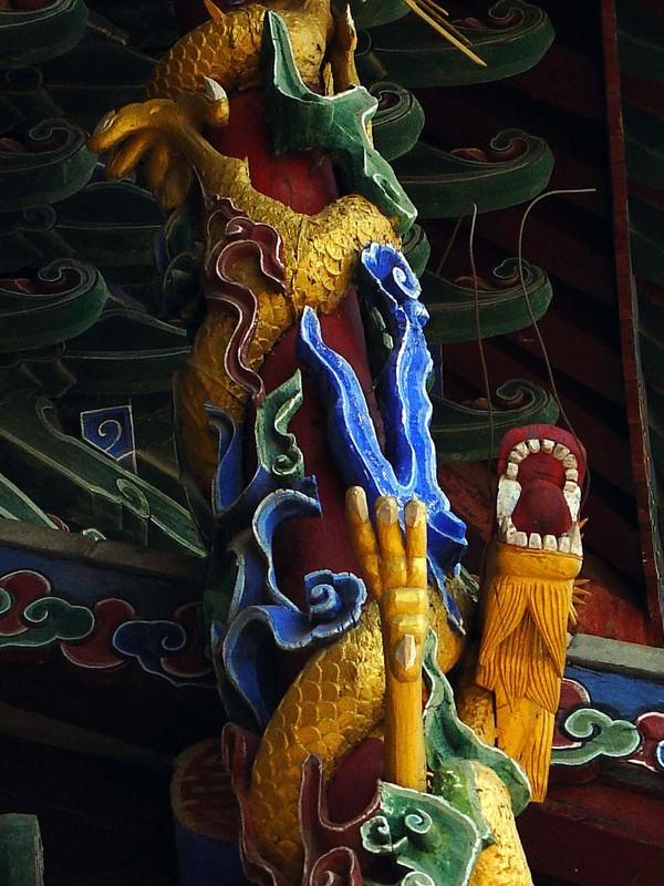 Sculpture in Confucius temple (detail)