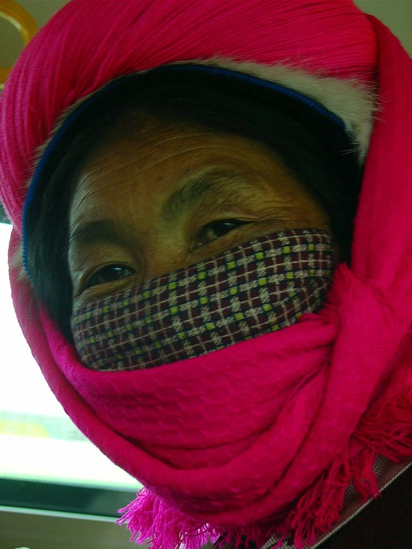 A Tibetan met in a bus