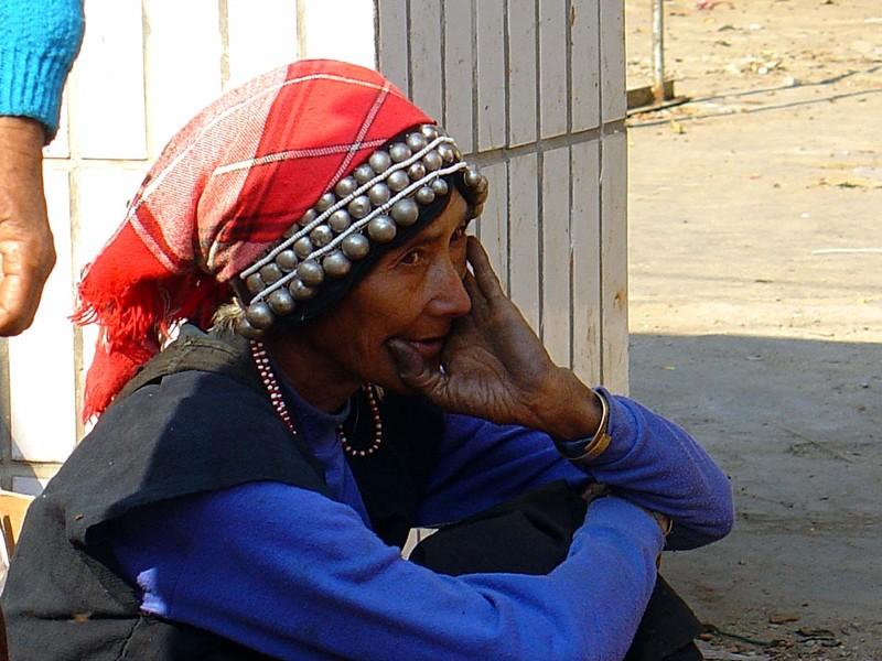 Dai woman in Menghun market
